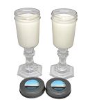 Wine Jar Soy Candle Pair - 8 oz each