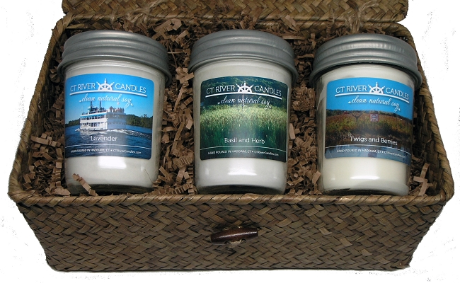 Soy Candle Gift Baskets Candle Gift Basket Preserver Jars Ct River Candles